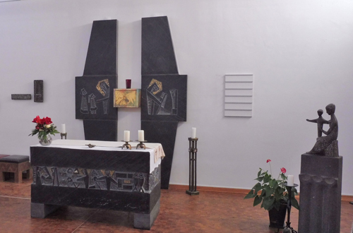 Altar in der Kapelle des Seniorencentrums.